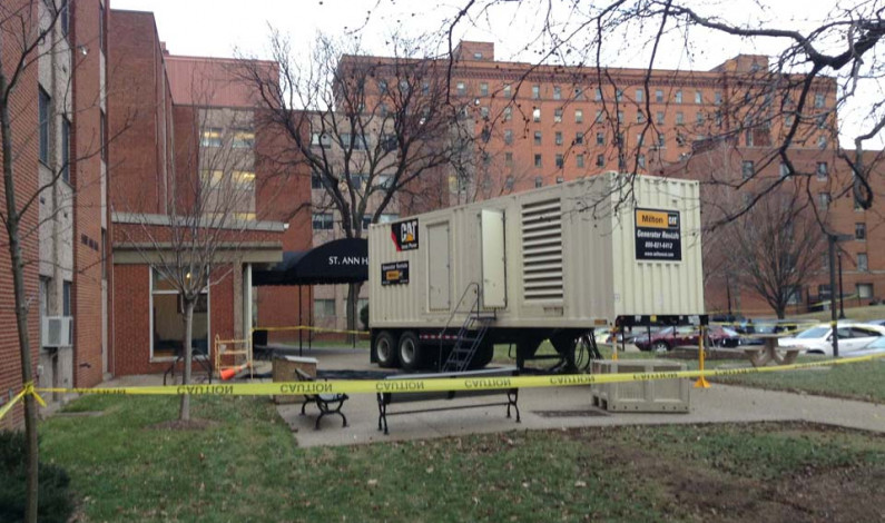 Residence halls suffer power outage