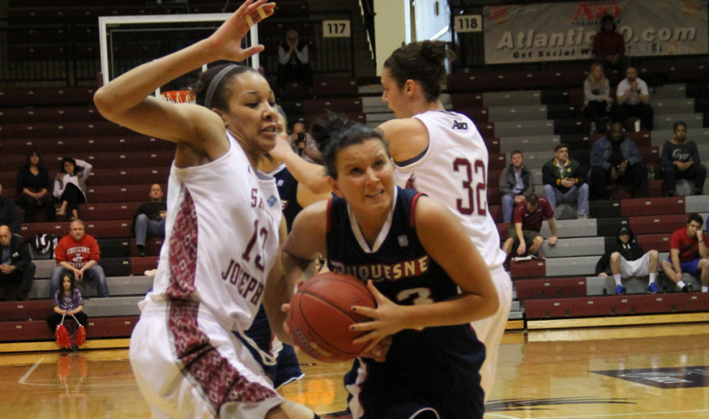 Duquesne women fall to St. Joseph's in A-10 quarterfinals