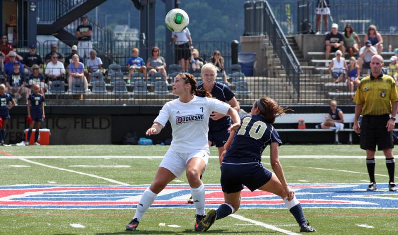 Women's soccer prevails in double OT