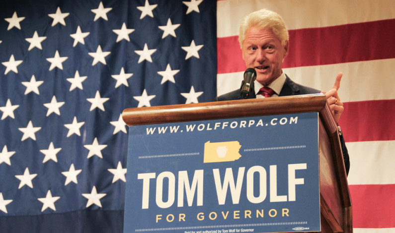 As election nears, Clinton endorses Wolf