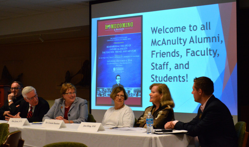 Panel remembers late president McAnulty