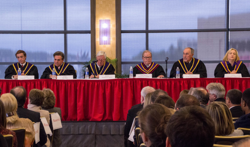 Pa. chief justice honored at DU amid porn email scandal
