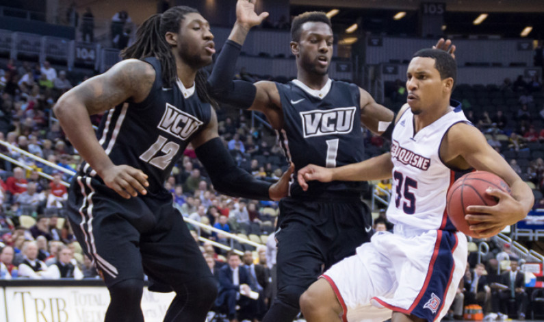 Men's basketball falls to No. 17 VCU at Consol Energy Center