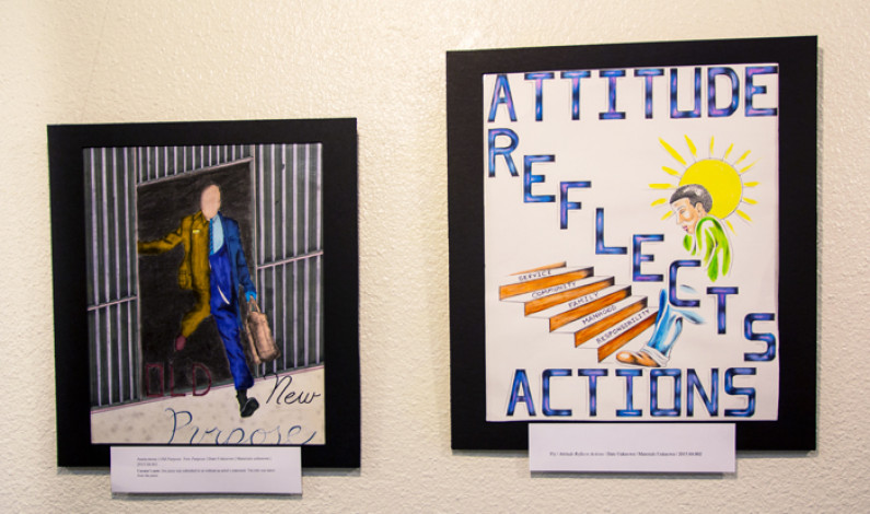 Art display showcases prisoners' work