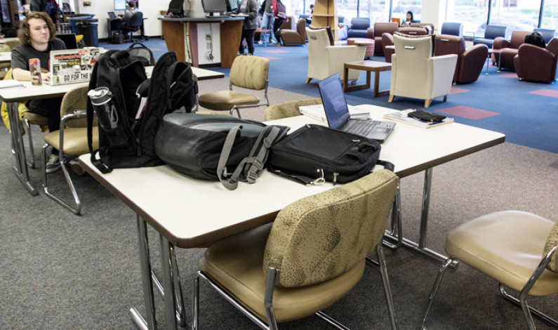 Table Wars: With finals on the horizon, students struggle for space at Gumberg