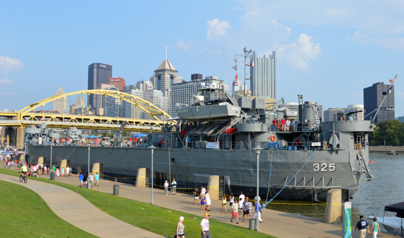 WWII ship with ties to Pittsburgh wows visitors