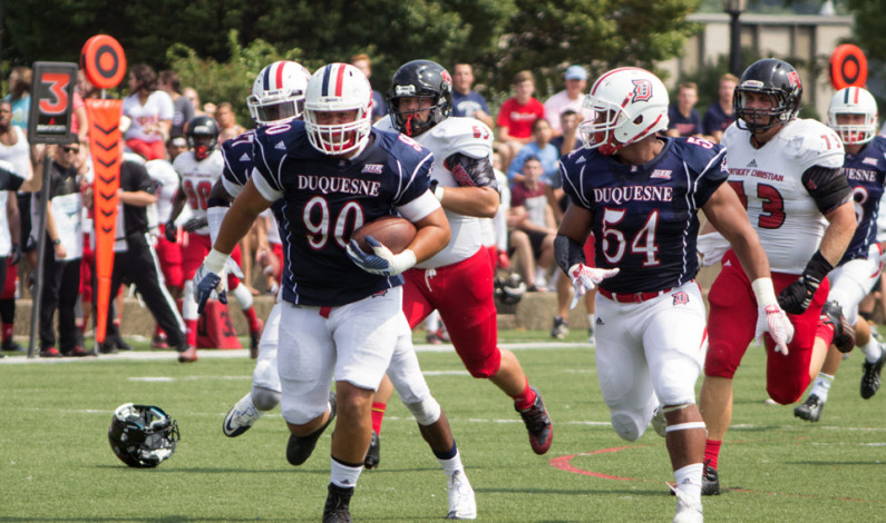 Football opens up season with rout of KCU