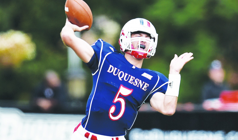 Drafting a fantasy team with Duquesne football players
