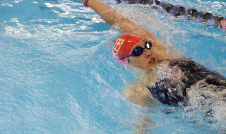 Alumni return for swimming exhibition at Towers Pool