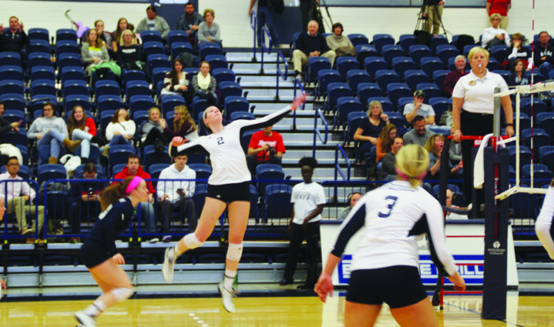 Volleyball tops George Mason in five-set thriller