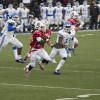 Football team back in win column after topping CCSU
