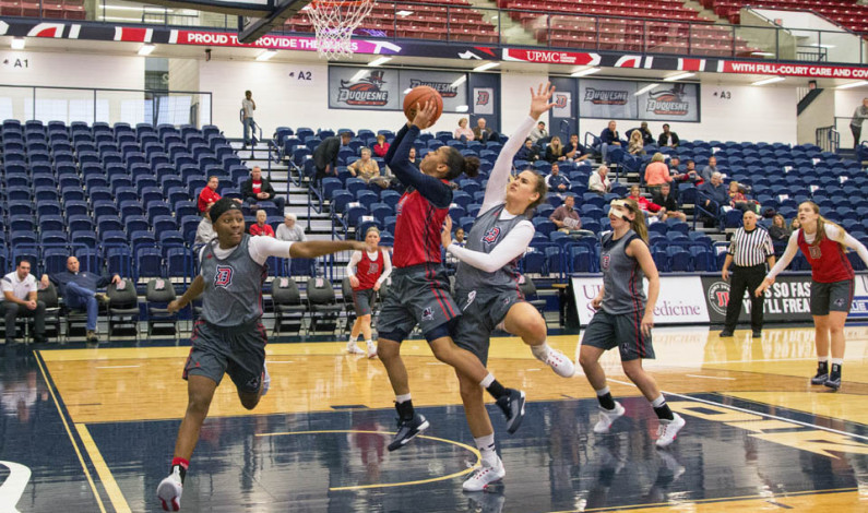 Women's hoops hosts first 'Dukes, Donuts and Dunks'