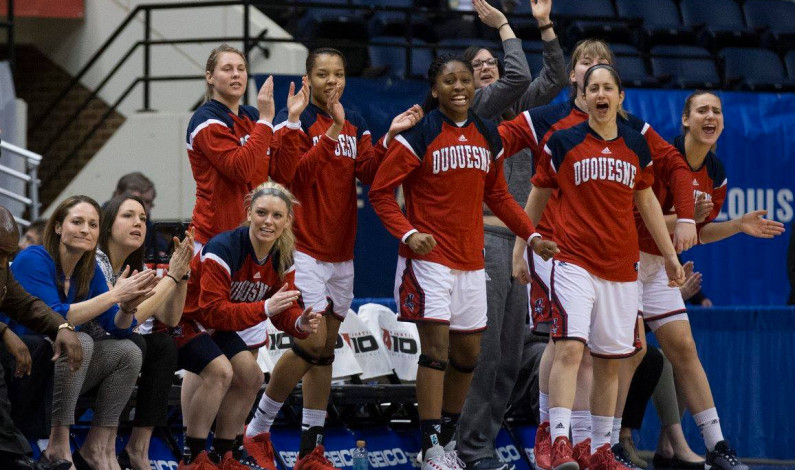 Women's hoops top Fordham, advance to semifinal of A-10 Tournament