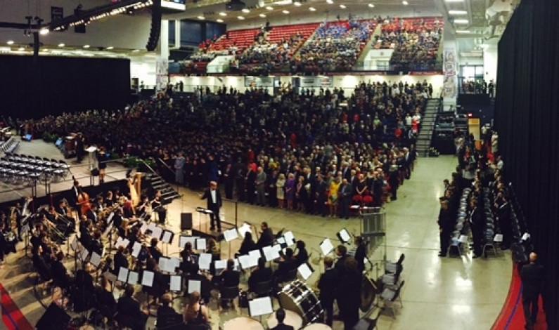 Big-name speakers take the podium at Gormley inauguration