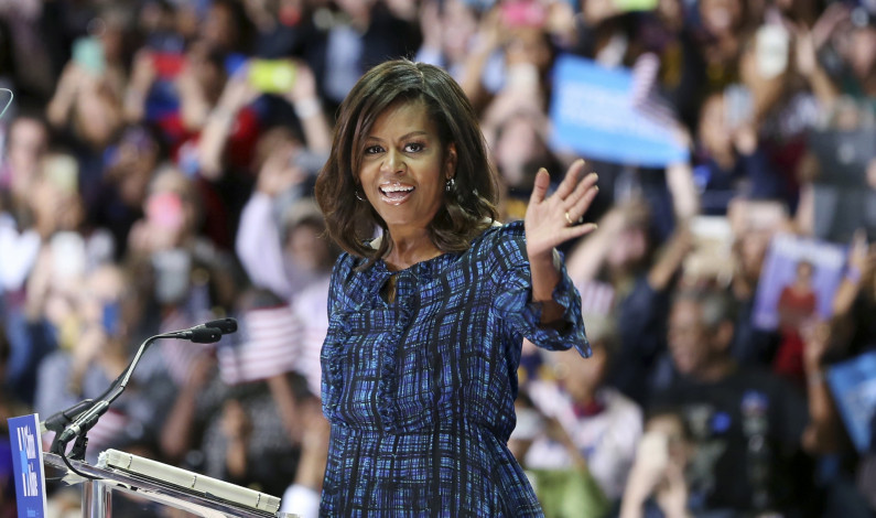 First Lady visits Pitt, urges Clinton vote
