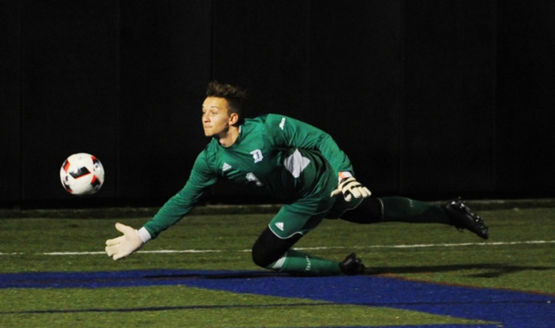 GK Evan Kozlowski shutting out everything in sight