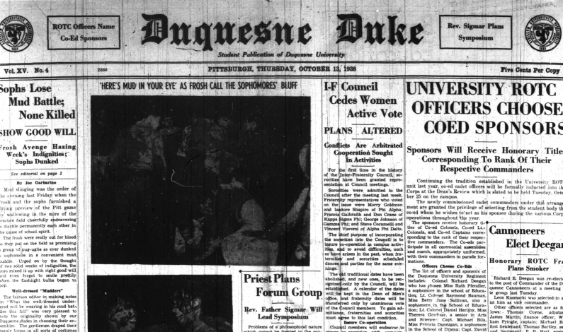 A dip into The Duke archives: Oct. 13, 1938