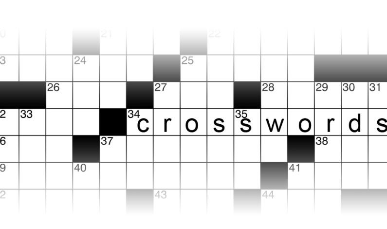Crossword Puzzles: A finals week proposal
