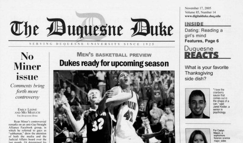 A dip into The Duke archives: November 17, 2005