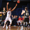 Defense surrenders 52 first half points, Dukes fall to UMBC