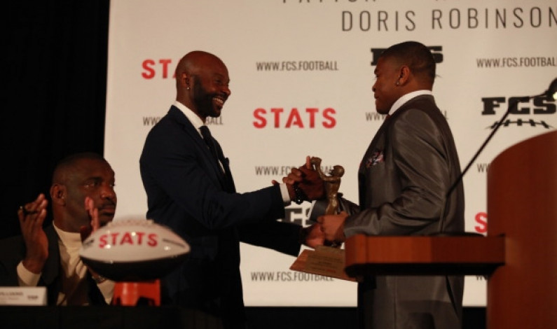A.J. Hines brings Jerry Rice Award to Duquesne