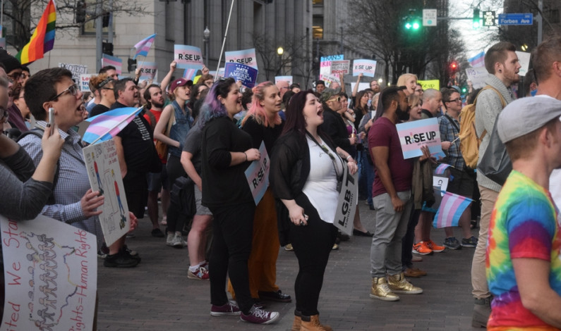 Duquesne professor, students attend Pgh. transgender rally