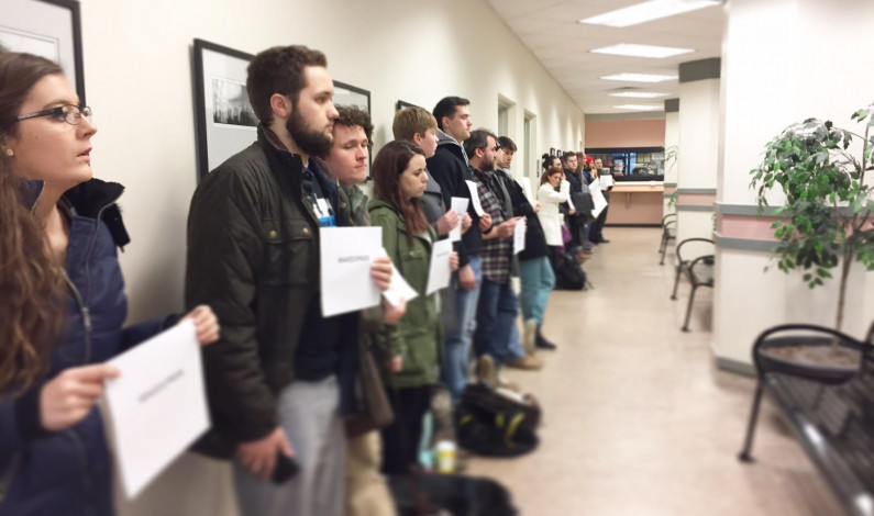 Students stage silent protest of budget cuts before Liberal Arts faculty meeting [UPDATED]