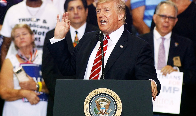 Trump disappoints at Phoenix rally, in presidency