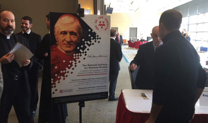 Duquesne helps with archiving of Blessed John Newman's work