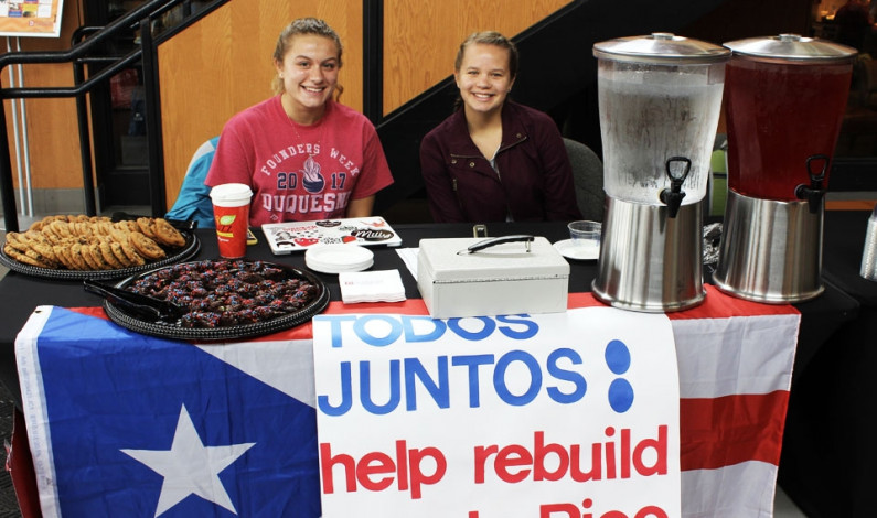 Student groups help Puerto Rico victims