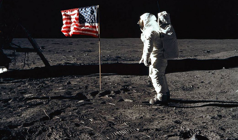 American Astronauts Land on the Moon
