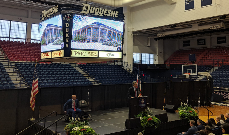 "Duquesne announces ""transformation"" of Palumbo Center into the new UPMC Cooper Fieldhouse"