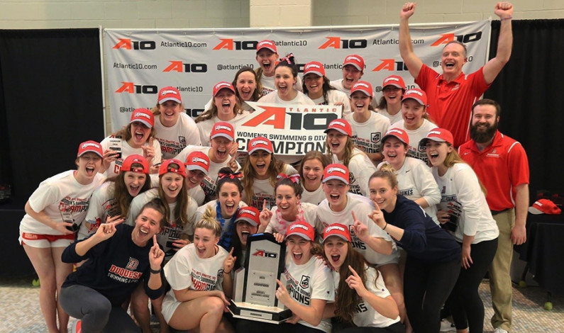 Duquesne swim & dive team wins A-10 championship