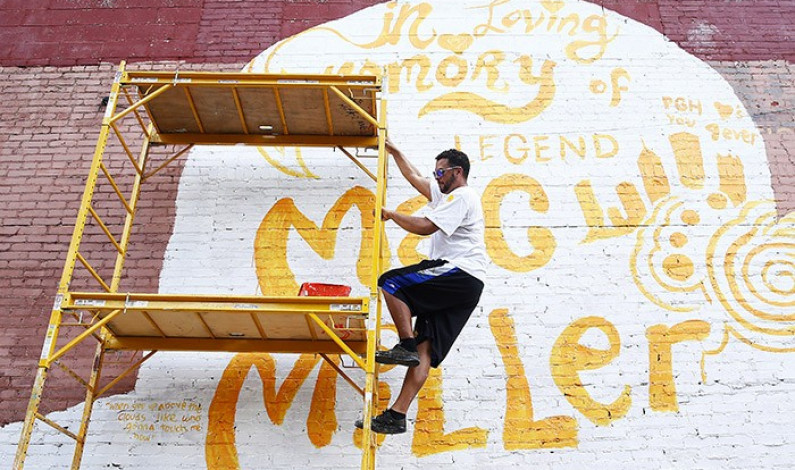 Mural created in East Liberty to honor Mac Miller