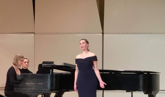 Music school student Julianna Grabowski gives graduate recital