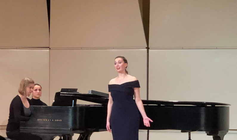 Music school student Julianna Grabowski gives graduate recital