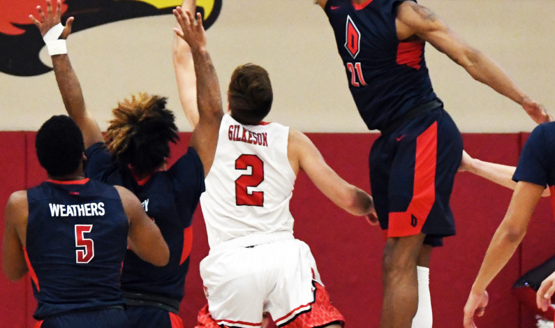 MBB's Mike Hughes among national leaders in blocks