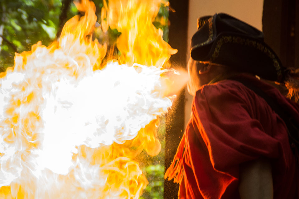 9-12 Features- RenFest Fire  (photo aw)