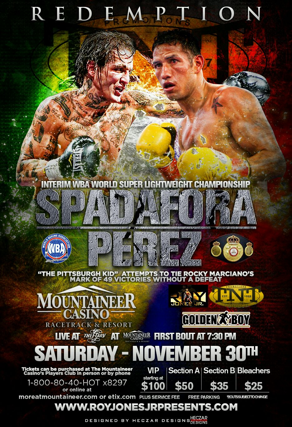 Spadafora vs. J. Perez Sat. Nov. 30th