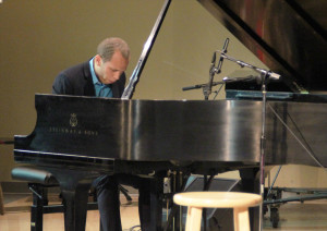 (Claire Murray / Ass.t Photo Editor) - Brett Williams (above) plays at his senior recital Sunday in room 322 of the Mary Pappert School of Music.