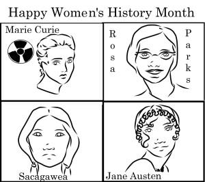 Opinions - WebWomen's History Month comic