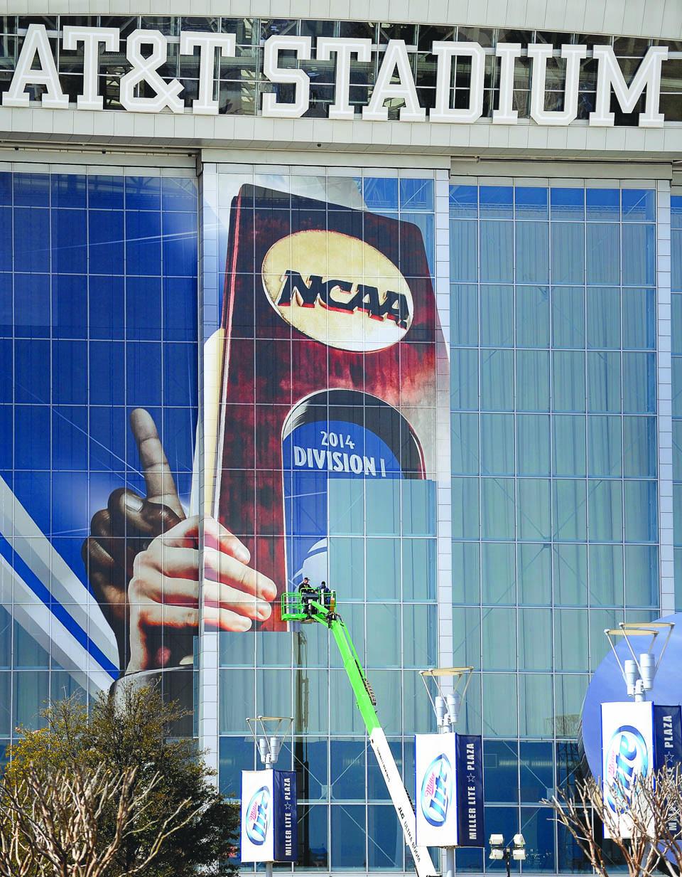 ATT Stadium Prep for NCAA