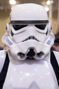 (Aaron Warnick / Photo Editor) - Stormtrooper 2K6794 of the 501st Legion was one of the many attendees who donned costumes for the event.