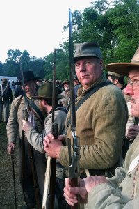 (Courtesy of Robert Laux) -Dr. Robert Laux as a civil war reenactor at the 150th anniversary of the Battle of Gettysburg.