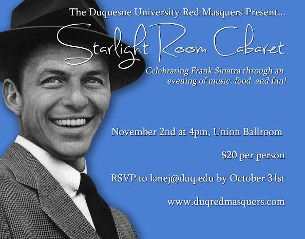 Courtesy of Caitlin Young - The Duquesne Red Masquers, which was founded in 1914, are presenting the Starlight Room Cabaret this coming weekend.