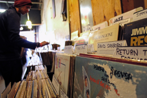 Photo by: Taylor Miles- Jerry's Records in Squirrel Hill approximately gave away 26,000 vinyl records this past weekend. The store specializes in buying and selling used records.