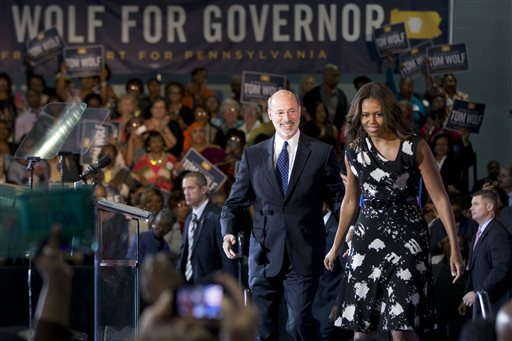 Michelle Obama, Tom Wolf