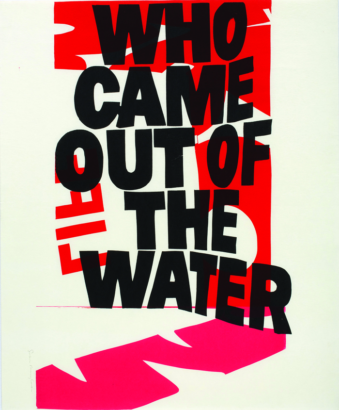 (Courtsey of The Andy Warhol Museum) Corita Kent, who came out of the water, 1966, Collection of the Frances Young Tang Teaching Museum and Art Gallery, Skidmore College.