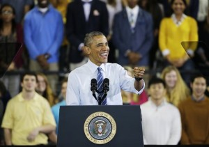AP Photo.President Barack Obama waves as he takes the stage to speak March 10 in Atlanta about his plan to clamp down on companies that service federal student debt.