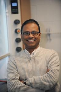 Courtesy Photo. DU professor Partha Basu discovered a compound to detect lead traces.